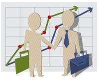 Businessmen shake hands Stock Images