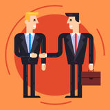 Businessmen shaking each other hands Royalty Free Stock Images