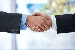 Businessmen shaking hand Stock Images
