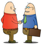 Businessmen shaking hand. Two bald businessmen shaking their hands. eps 8 file Royalty Free Stock Photography