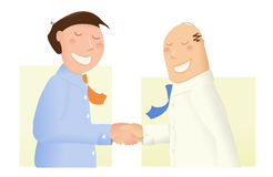 Businessmen Shaking Hands. Two businessman, or politicians, shaking hands, making a deal, committing to a verbal contract Stock Photos