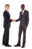 Businessmen shaking hands. In white background Royalty Free Stock Photos