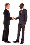 Businessmen shaking hands. In white background Stock Photo