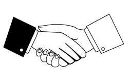Businessmen shaking hands. On white Stock Photography