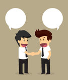 Businessmen shaking hands with an agreed proposal Royalty Free Stock Photo