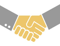 Businessmen shaking hands. In agreement  with color Stock Photos