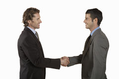 Businessmen Shaking Hands On White Background Stock Photo
