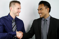 Businessmen shaking hands Royalty Free Stock Photo