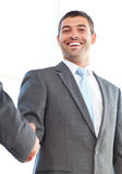 Businessmen shaking their hands after a meeting Royalty Free Stock Photography