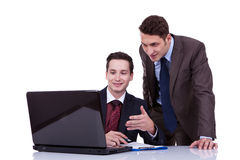 Businessmen sharing ideas Stock Photo