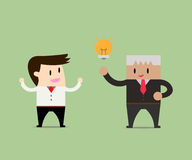 Businessmen sharing ideas Royalty Free Stock Photography