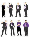 Businessmen Silhouettes 1 Royalty Free Stock Photography