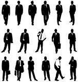 Businessmen silhouettes Stock Image