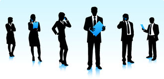 Businessmen silhouettes Stock Photo