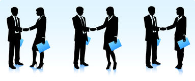 Businessmen silhouettes Royalty Free Stock Image