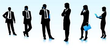 Businessmen silhouettes Royalty Free Stock Photography