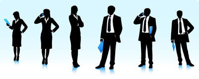 Businessmen silhouettes Royalty Free Stock Images