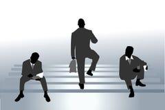 Businessmen siluettes Stock Photos