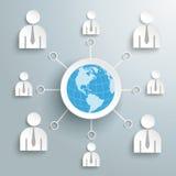 Businessmen Social Network Globe Royalty Free Stock Image