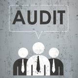 3 Businessmen Speech Bubble Concrete Audit Royalty Free Stock Images