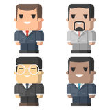Businessmen square different races Stock Photography