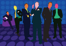 Businessmen are standing. A colourful illustration of a group of standing businessmen Stock Photos