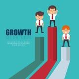Businessmen standing financial bar growth Stock Photos