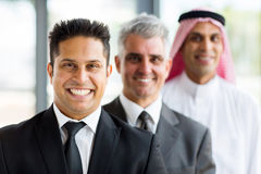 Businessmen standing in a row Royalty Free Stock Photography