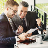Businessmen Success Gesture Cheerful Concept Royalty Free Stock Photos