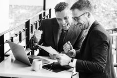 Businessmen Success Gesture Cheerful Concept Royalty Free Stock Images