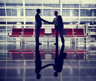 Businessmen Talking Business Airport Deal Concept Royalty Free Stock Images