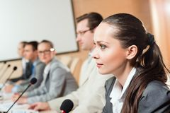 Businessmen talking at the conference Royalty Free Stock Photo