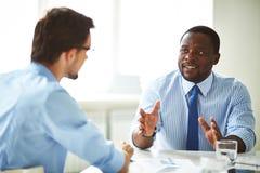 Businessmen talking Stock Photos
