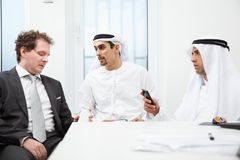 Businessmen talking on a meeting Stock Images