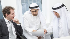 Businessmen talking on a meeting Stock Image