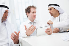 Businessmen talking on a meeting Royalty Free Stock Image