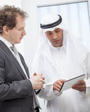 Businessmen talking on a meeting Royalty Free Stock Images
