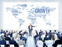 Businessmen Teaching About Business Growth Royalty Free Stock Images
