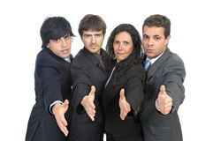 Businessmen team Stock Images
