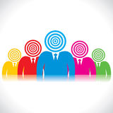 A businessmen team with archery board Royalty Free Stock Photos