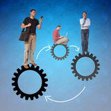 Businessmen team work Stock Image