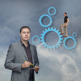 Businessmen team work Royalty Free Stock Photography