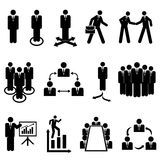Businessmen, teams and teamwork. Icons Royalty Free Stock Photography
