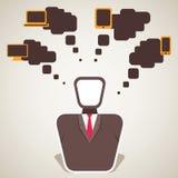 Businessmen think electronic item. Stock Stock Images