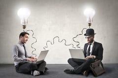 Businessmen thinking Stock Photo