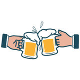 Businessmen toasting with beer Royalty Free Stock Photography