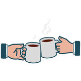Businessmen toasting with coffee Royalty Free Stock Image