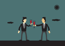 Businessmen Toasting to Success Stock Image