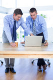 Businessmen using laptop Royalty Free Stock Photography