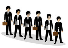 Businessmen waiting in line Royalty Free Stock Photography